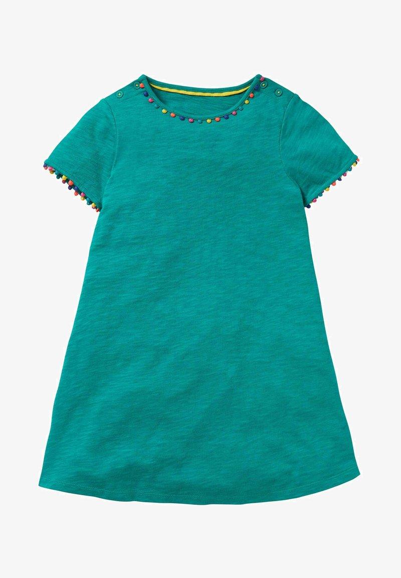Boden - MIT REGENBOGENBORTEN - Jersey dress - smaragdgrün