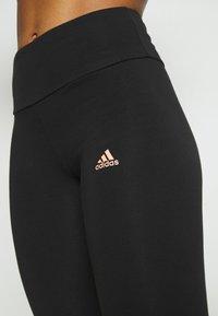 adidas Performance - LOUNGEWEAR ESSENTIALS HIGH-WAISTED LOGO LEGGINGS - Tights - black/ambient blush - 5