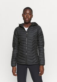 Columbia - POWDER LITE HOODED JACKET - Winterjacke - black - 0