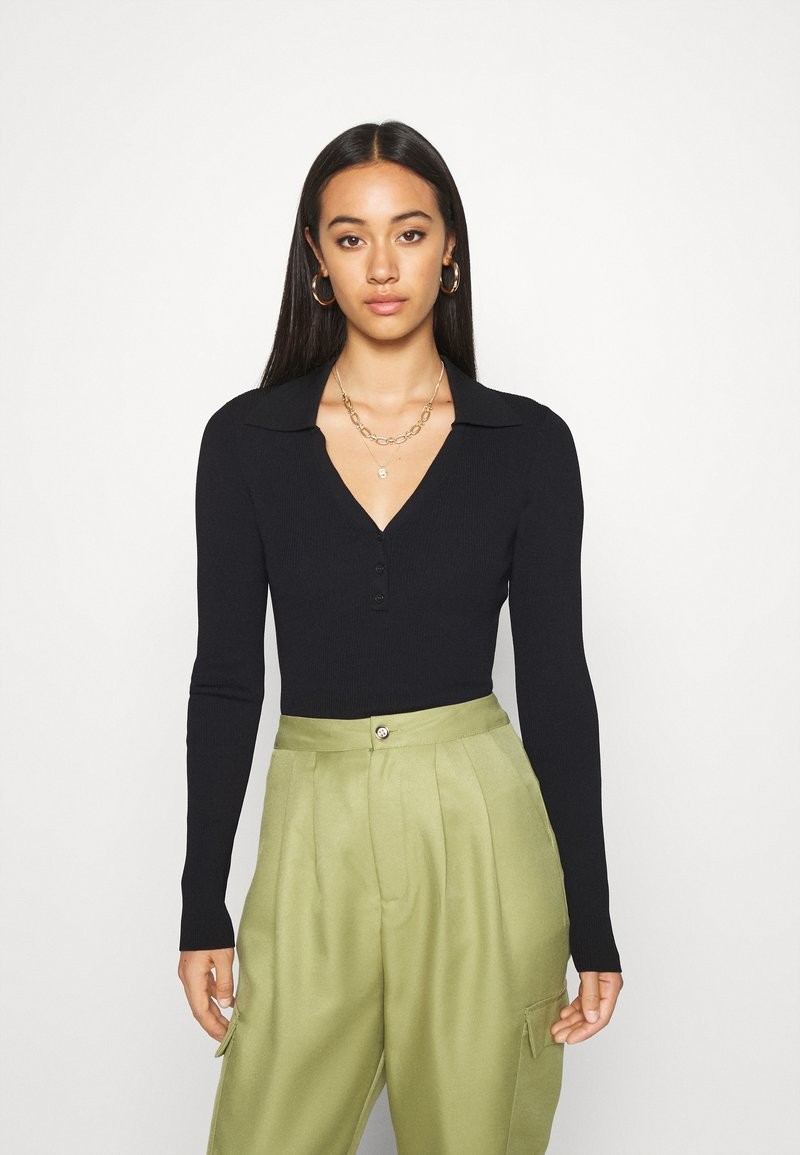 Weekday - FLAVIA - Long sleeved top - black