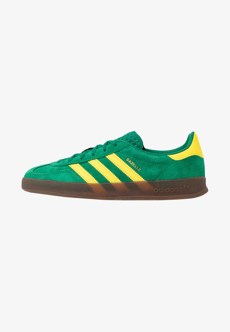 adidas Originals - GAZELLE INDOOR - Tenisky - green/yellow