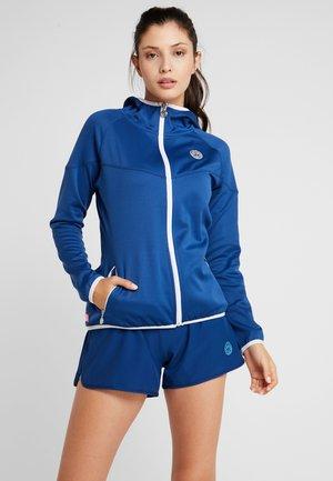 INGA TECH JACKET - Zip-up sweatshirt - dark blue/white