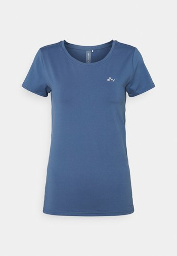 ONPCLARISSA TRAINING TEE - T-shirts - bijou blue