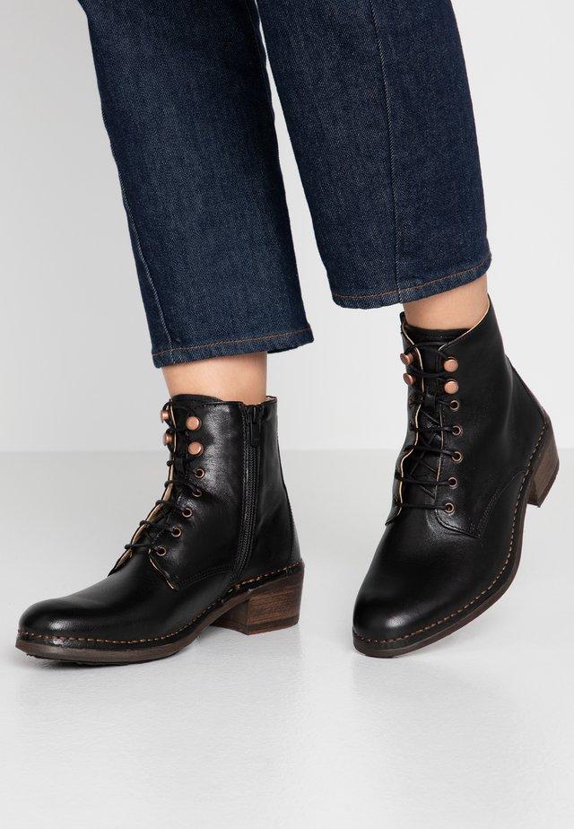 MEDOC - Lace-up ankle boots - dakota black