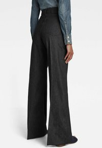 G-Star - DECK ULTRA HIGH - Flared Jeans - pitch black - 1