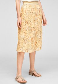 s.Oliver - A-line skirt - sunlight yellow aop - 0