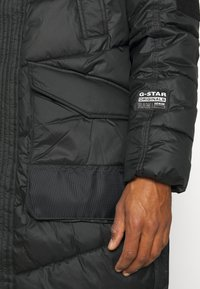 G-Star - UTILITY QUILTED EXTRA LONG PARKA - Winter coat - namic lite black - 7