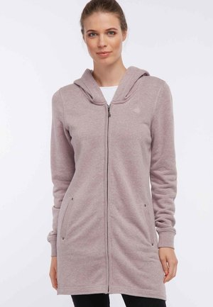 Zip-up hoodie - mottled light pink