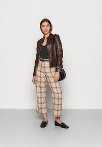 Gipsy - JUANA LONTV - Leather jacket - dark brown - 1