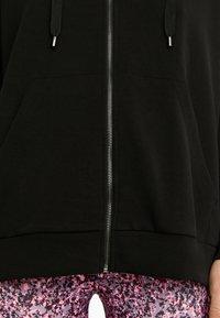 OYSHO - KAPUZENJACKE AUS WEICHEM STOFF 31791222 - Zip-up hoodie - black - 5