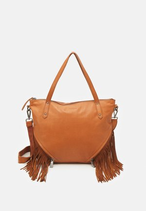 TIN - Handbag - dark camel