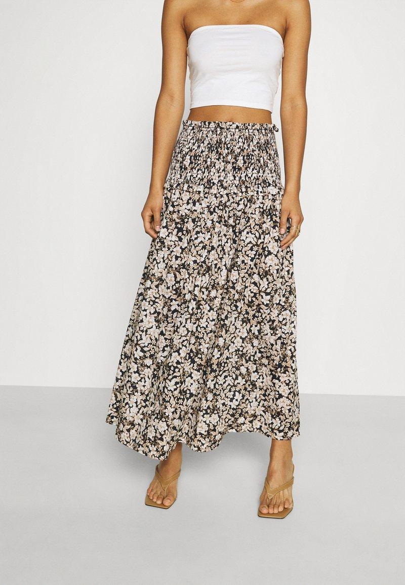 Bec & Bridge - FORBIDDEN FORREST SKIRT - Maxi skirt - black/pink