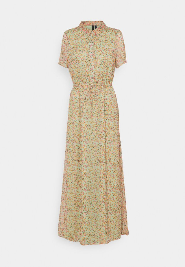 VMKAY ANKLE SHIRT DRESS - Maxi dress - laurel green/petal