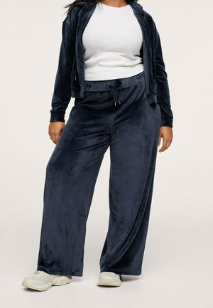 FLUWELEN  - Trousers - donkermarine
