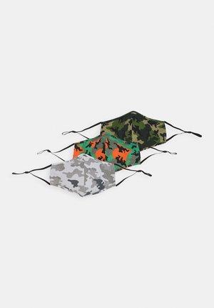 3 PACK UNISEX - Stoffen mondkapje - khaki/grey/orange