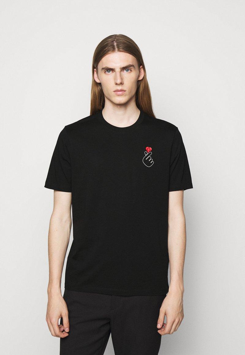 HUGO - DUNAGI - Print T-shirt - black