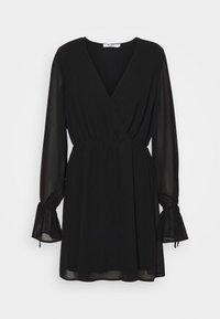 NA-KD - STRAP TIE MINI DRESS - Day dress - black - 5