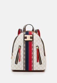 River Island - MONOGRAM WEBBING PACKPACK - Batoh - white/brown - 1