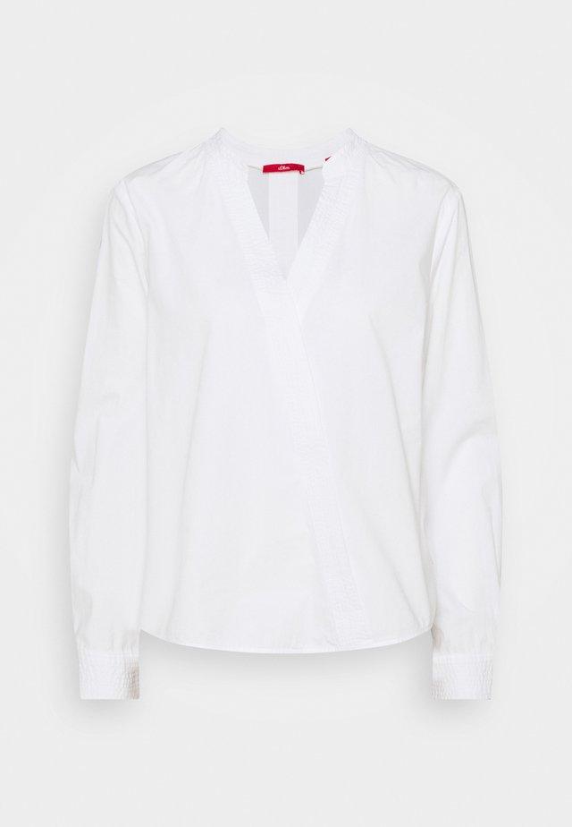 LANGARM - Top sdlouhým rukávem - white