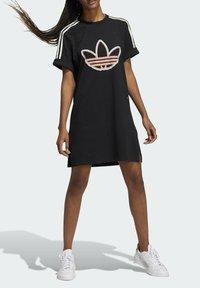 adidas Originals - LOVE UNITES T D - Jersey dress - black - 3