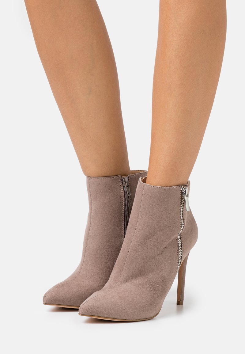 Even&Odd - High heeled ankle boots - taupe