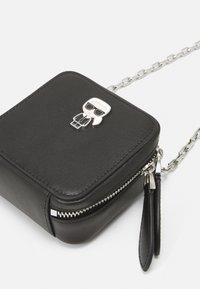 KARL LAGERFELD - IKONIK NANO BOXY - Across body bag - black - 3