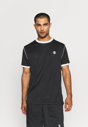 MAN - T-shirt con stampa - anthracite/blanc de blanc