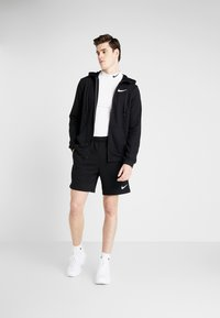 Nike Performance - DRY HOODIE  - Sudadera con cremallera - black/white - 1