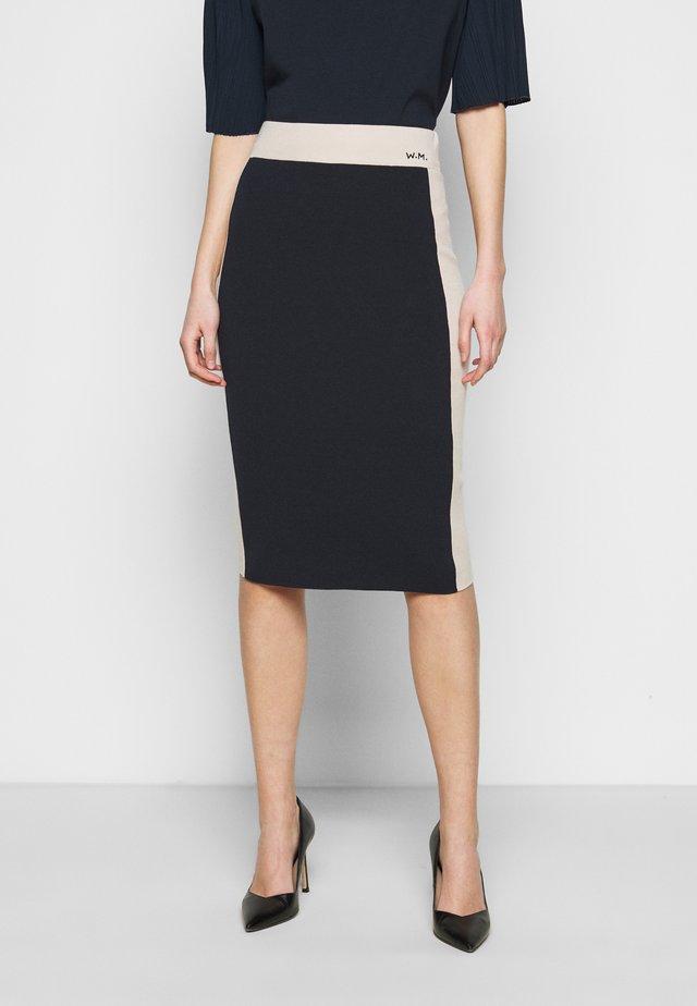 NANDINA - Falda de tubo - blau