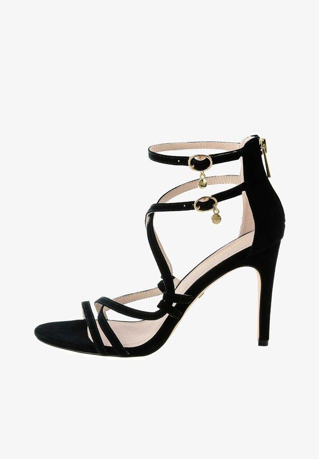 TERZO - Sandalen met hoge hak - black