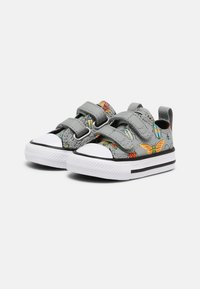 Converse - CHUCK TAYLOR ALL STAR BUGGED OUT UNISEX - Sneakers laag - ash stone/black/bright poppy - 1