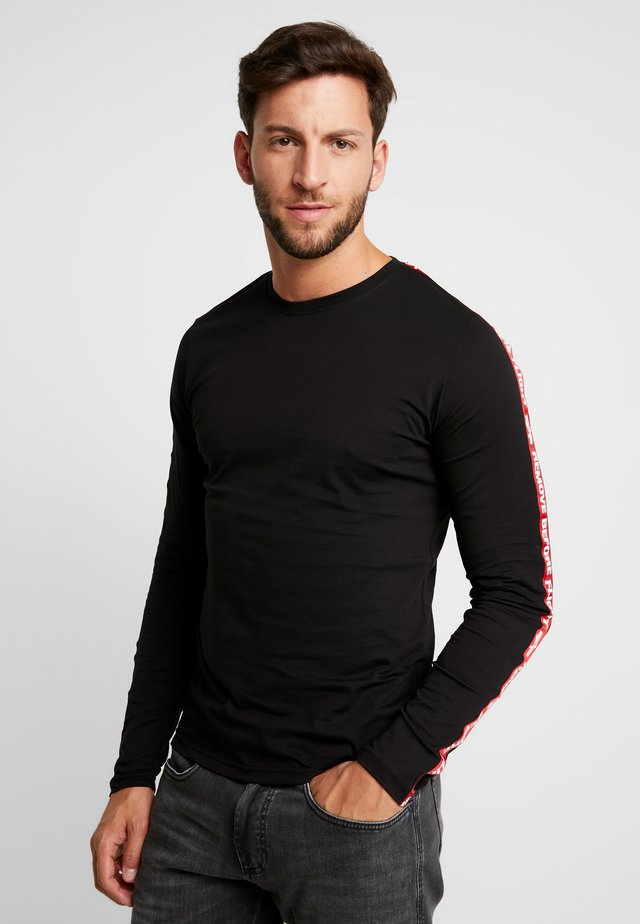 TAPE  - Long sleeved top - black