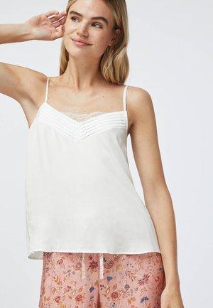 WITH V-NECK - Pyjama top - white