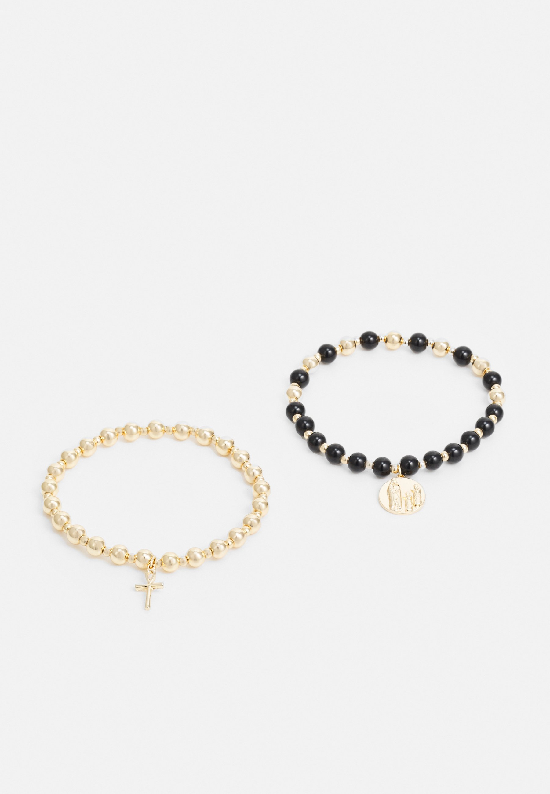 Men CROSS AND COIN BEAD 2 PACK - Bracelet