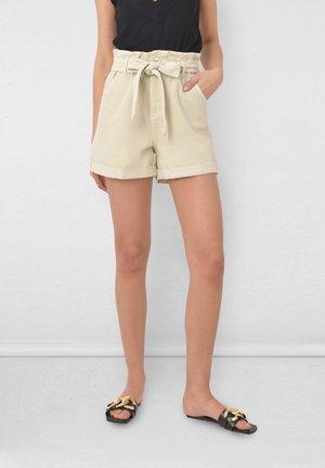 Denim shorts - stone