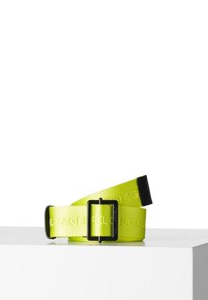LOGO WEBBING  - Pasek - neon yellow