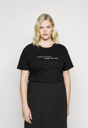 SLOGAN  - Print T-shirt - black