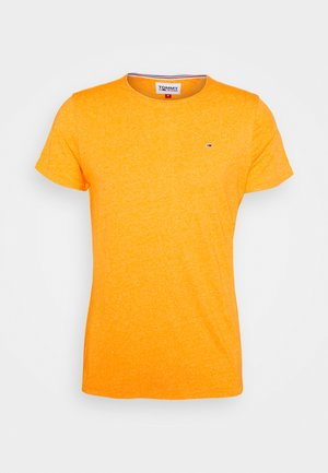 SLIM JASPE C NECK - Camiseta básica - yellow