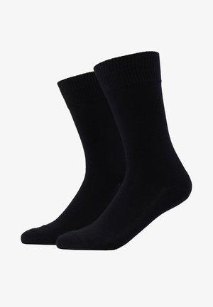 CUSHIONED REGULAR CUT 2PACK - Socks - jet black