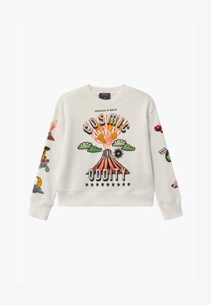 CREWNECK WITH ARTWORKS - Mikina - off white