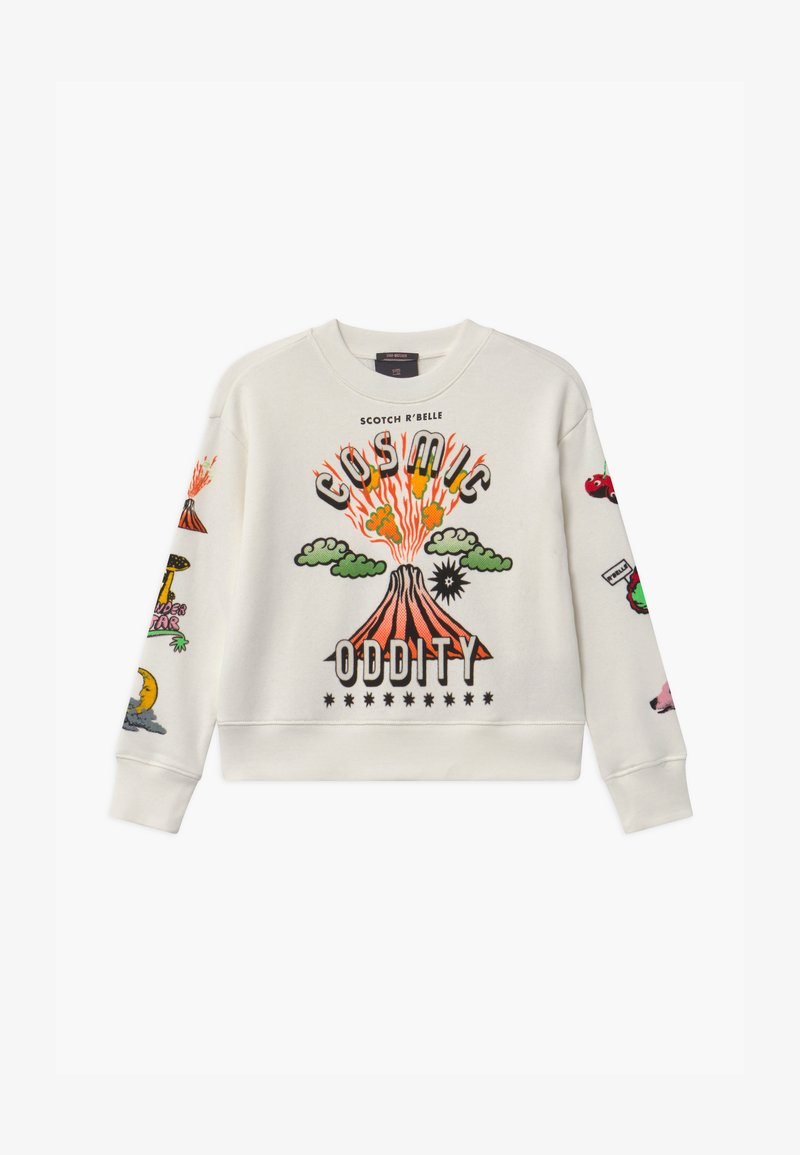 Scotch & Soda - CREWNECK WITH ARTWORKS - Sweatshirt - off white