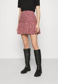Mavi - PRINTED SKIRT - Mini skirt - mesa rose - 0