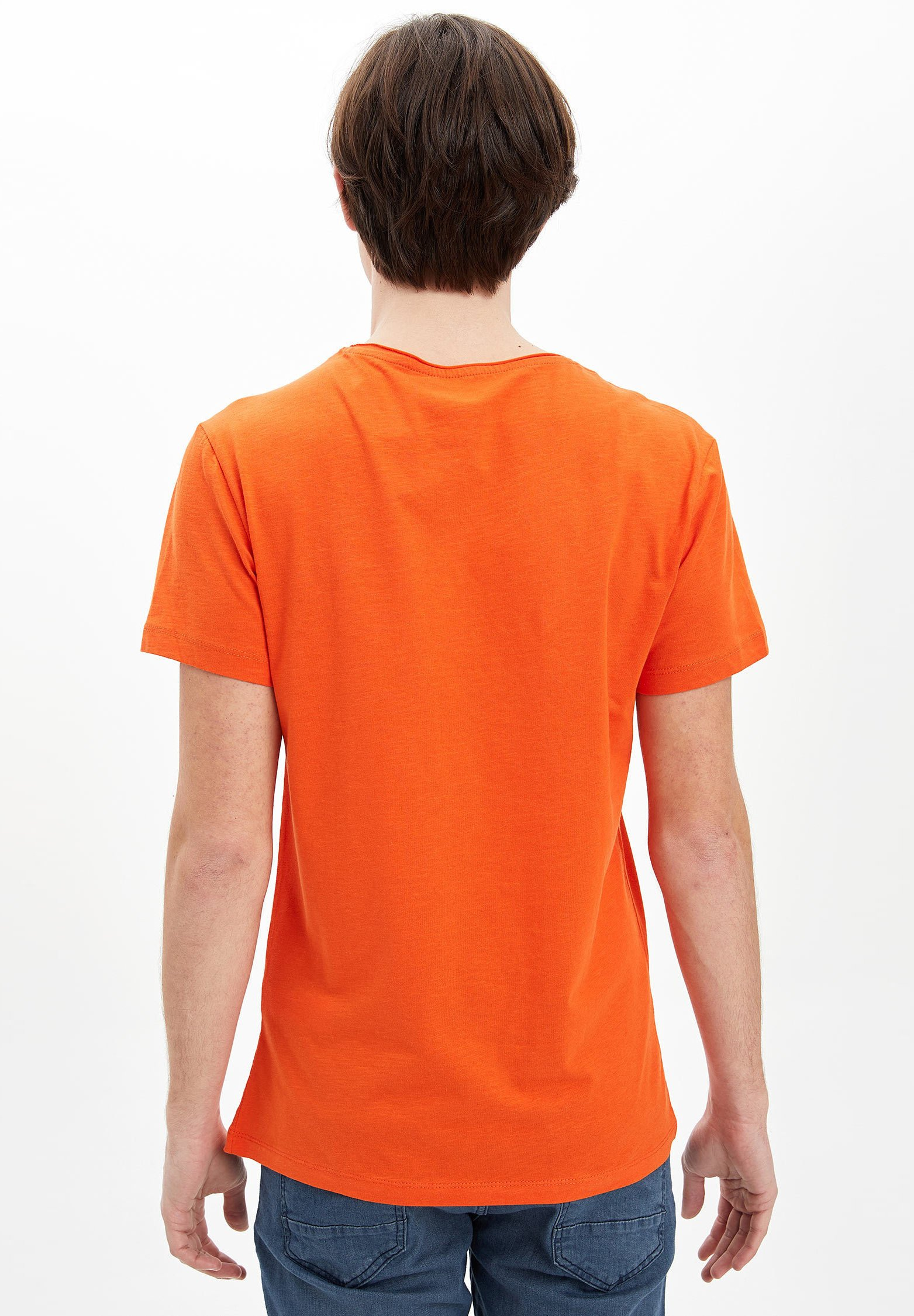 DeFacto Basic T-shirt - orange Q7jb0