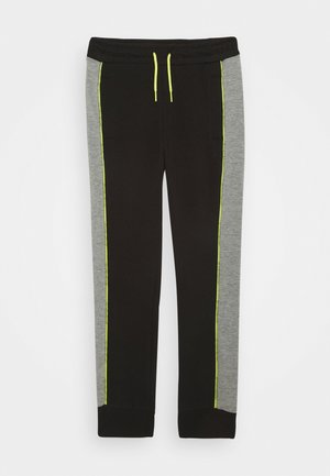 PIPED SLIM FIT - Tracksuit bottoms - black