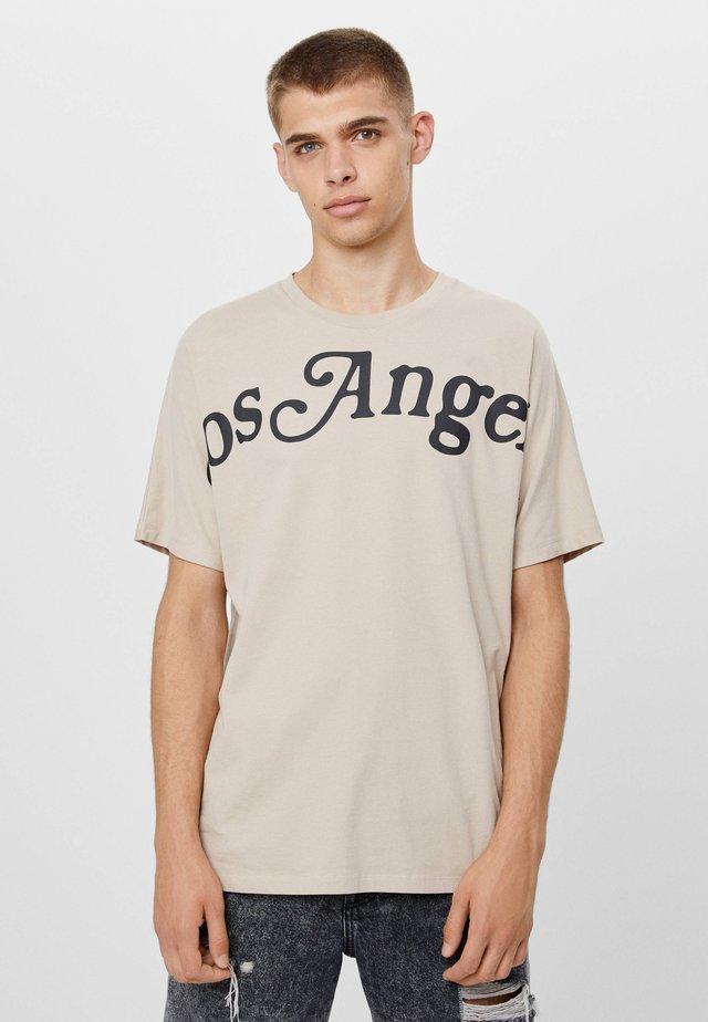 BEDRUCKTES - T-shirt imprimé - beige