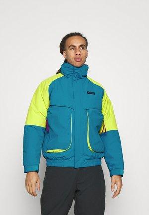 POWDER KEGINTERCHANGE - Snowboardová bunda - fjord blue/bright chartreuse