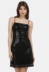 myMo at night - PAILLETTENKLEID - Cocktail dress / Party dress - schwarz - 0