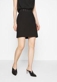 HUGO - RIATA - Áčková sukně - black - 0
