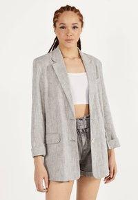 Bershka - Short coat - light grey - 0
