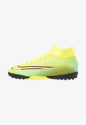 MERCURIAL JR 7 ACADEMY TF UNISEX - Astro turf trainers - lemon/black/aurora green